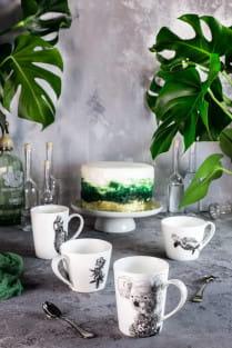 MARINI FERLAZZO Becher Asiatic Black Bear, Premium-Keramik, in Geschenkbox