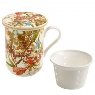KILBURN Becher Cottage Blossom, Bone China Porzellan, in Geschenkbox