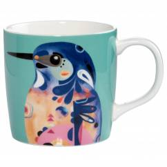 PETE CROMER Becher Azure Kingfisher, Porzellan, in Geschenkbox