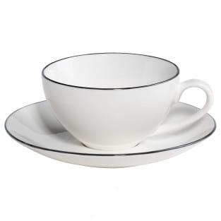EDGE Tasse mit Untertasse, Premium-Keramik