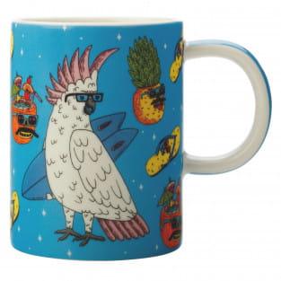 MULGA Becher Cockatoo, Porzellan, in Geschenkbox