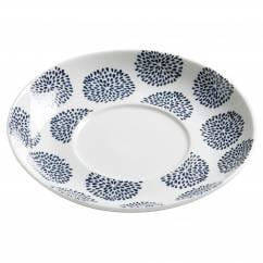 INDIGO Flower Untertasse zu Tasse & Becher 15,5 cm, Porzellan