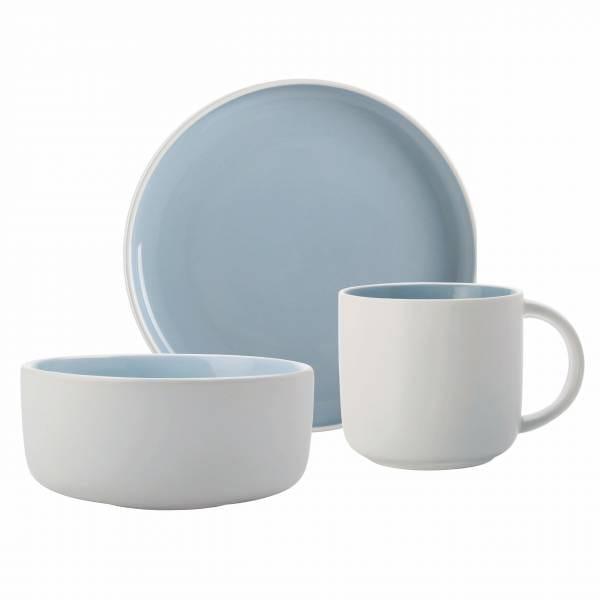 TINT Frühstücks-Set 3-tlg., Hellblau, Porzellan, in Geschenkbox