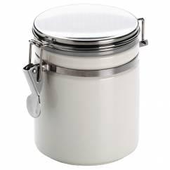 CLIP Vorratsdose Weiß, 0,75 l, Porzellan - Metall