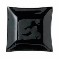 MONDO Sossenteller Onyx Schwarz 7,5cm, Glas