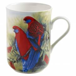 BIRDS OF AUSTRALIA Becher Pennantsittich, Bone China Porzellan, in Geschenkbox