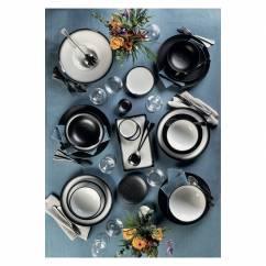CAVIAR BLACK Tasse mit Untertasse, Premium-Keramik