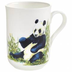 ANIMALS OF THE WORLD Becher Panda, Bone China Porzellan, in Geschenkbox
