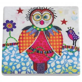 SMILE STYLE Untersetzer Boobook, Keramik - Kork