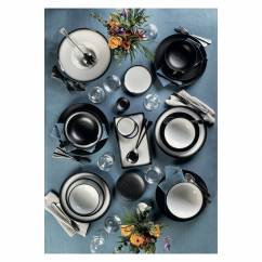 CAVIAR BLACK Espressotasse mit Untertasse, Premium-Keramik