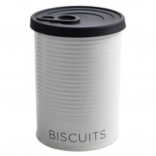 CANISTER Vorratsdose mit Silikondeckel Schwarz Biscuits, 1,5 l, Porzellan - Silikon, in Geschenkbox