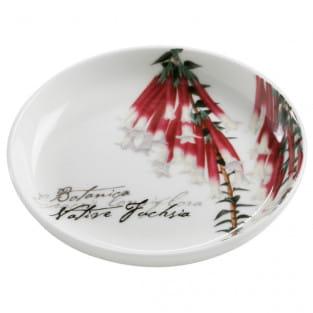 BOTANIC Untersetzer Floral Fuchsie, 10 cm, Bone China Porzellan, in Geschenkbox