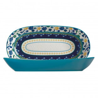 RHAPSODY Schale Blau, 43 x 22 cm, Keramik, in Geschenkbox