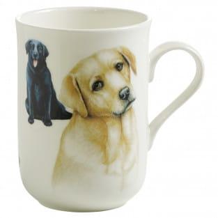 PETS Becher Labrador Hund, Bone China Porzellan, in Geschenkbox