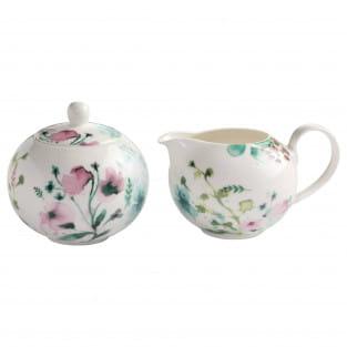 PRIMAVERA Milch/Zucker-Set, Premium-Keramik, in Geschenkbox