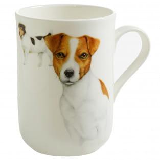 PETS Becher Jack Russell Hund, Bone China Porzellan, in Geschenkbox