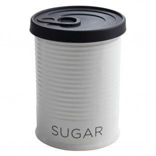 CANISTER Vorratsdose mit Silikondeckel Schwarz Sugar, 750 ml, Porzellan - Silikon, in Geschenkbox