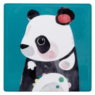 PETE CROMER Keramikuntersetzer Panda, Keramik - Kork