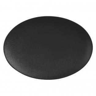 CAVIAR BLACK Platte oval, 30 x 22 cm, Premium-Keramik