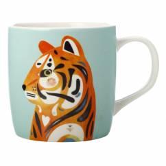 PETE CROMER Becher Tiger, Porzellan, in Geschenkbox