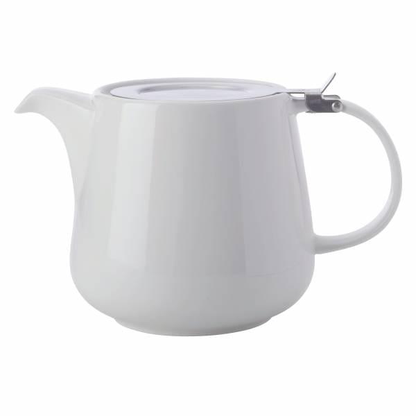 ROUND Teekanne 600ml, Porzellan - Edelstahl, in Geschenkbox