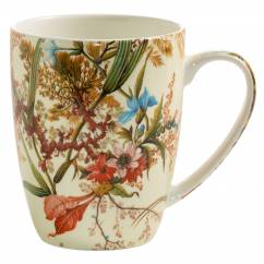 KILBURN Becher Cottage Blossom, Bone China Porzellan, in Geschenkbox