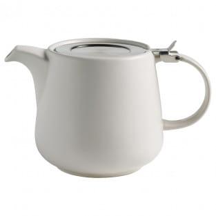 TINT Teekanne 1200ml, Weiß, Porzellan - Edelstahl