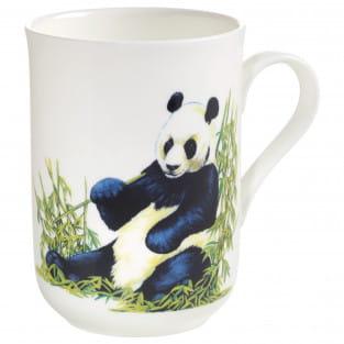 ANIMALS OF THE WORLD Becher Panda, Bone China Porzellan, in Geschenkbox