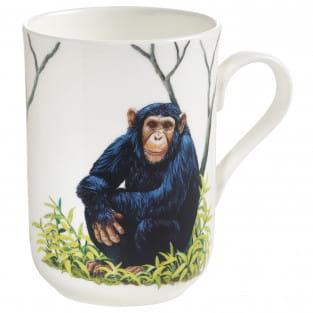 ANIMALS OF THE WORLD Becher Schimpanse, Bone China Porzellan, in Geschenkbox