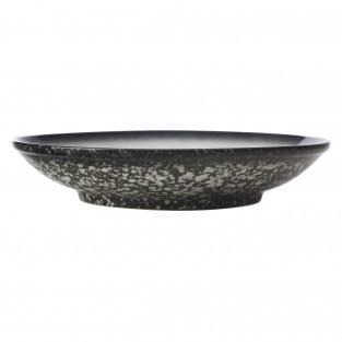 CAVIAR GRANITE Schale auf Fuß, 25 cm, Premium-Keramik