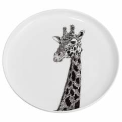 MARINI FERLAZZO Teller 20cm, African Giraffe, Premium-Keramik, in Geschenkbox
