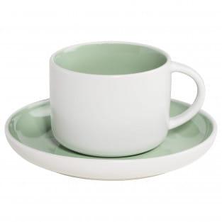 TINT Tasse mit Untertasse Mint, Porzellan