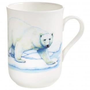 ANIMALS OF THE WORLD Becher Eisbär, Bone China Porzellan, in Geschenkbox