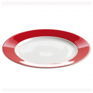 POLKA DOT Teller Rot, 23 cm, Porzellan