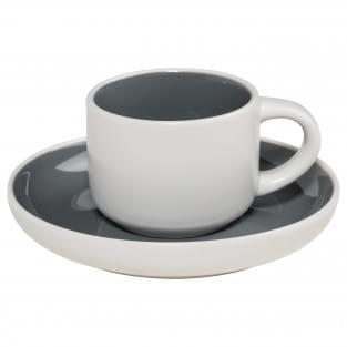 TINT Espressotasse mit Untertasse Dunkelgrau, Porzellan