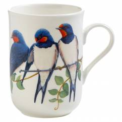 BIRDS OF THE WORLD Becher Schwalbe, Bone China Porzellan, in Geschenkbox