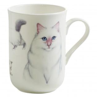 PETS Becher Birma Katze, Bone China Porzellan, in Geschenkbox