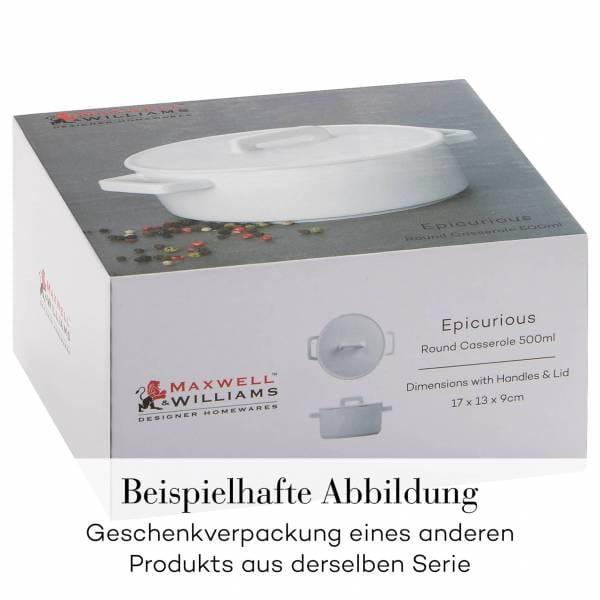 EPICURIOUS Auflaufform 24 x 19 x 7,5 cm, Porzellan, in Geschenkbox
