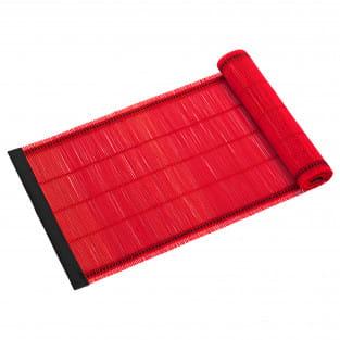 PLACESETS Tischläufer Rot, 150 x 30 cm, Bambus