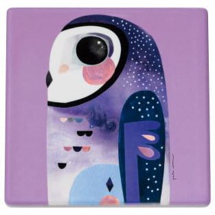 PETE CROMER Topfuntersetzer Owl, 20 cm, Keramik - Kork