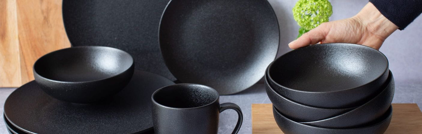 Caviar Black – Dinner- & Starter-Set